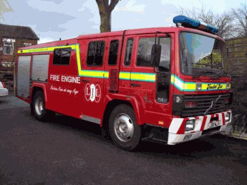 Chauffeur driven Fire Engine red limousine with real firemen for hire in North West, Cheshire, Liverpool, Manchester, Bolton, Chester, Wigan, Lancashire, Preston, Stockport and Blackburn.