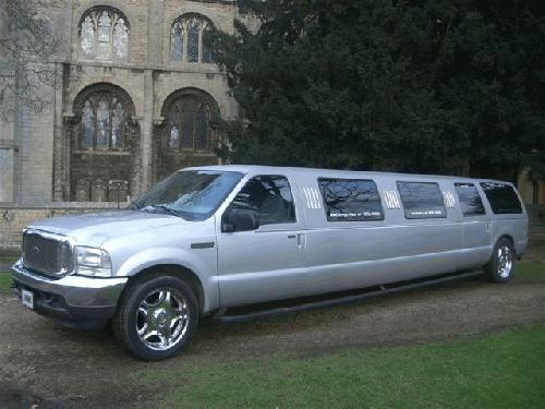 Chauffeur driven stretched Jeep 4x4 limousine 16 seater in East of England, Peterborough, Huntingdon, Stanford, King's Lynn, Norwich, Great Yarmouth, Lowestoft, Wisbech, Spalding, Cambridge, Cambridgeshire, Bedford, Bedfordshire, Newmarket, Bury St Edmunds, Suffolk, Norfolk, Lincolnshire, Northampton, Northamptonshire, Kettering, Leicester and Sudbury.
