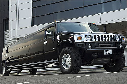 Chauffeur driven black Hummer H2 hire in Manchester, Liverpool, Bolton, Warrington, North West