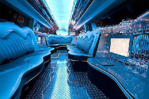 Chauffeur stretch black Hummer H2 limo hire in Glasgow, Edinburgh, Aberdeen, Dundee, Scotland