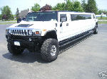 Chauffeur stretched white Hummer H2 limo hire in Portsmouth, Southampton, Bournemouth, Brighton, Poole, Hampshire, Sussex, Surrey, South Coast