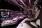 Chauffeur stretch Range Rover Sport limo hire interior in Glasgow, Edinburgh, Scotland