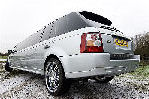 Chauffeur stretched silver Range Rover Sport limousine hire in Glasgow, Edinburgh, Scotland
